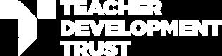 teacher development trust logo white